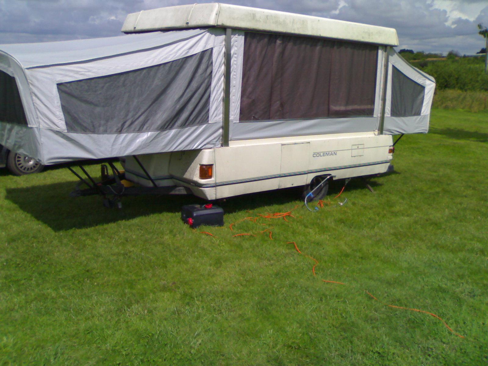 trailer tent corner steadies